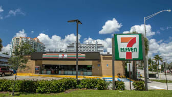 Fort Lauderdale, FL, 5/17/2019: View of a Seven Eleven store.