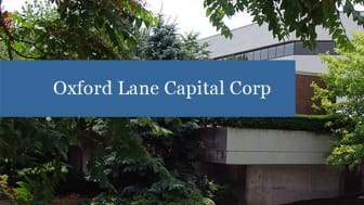 The Oxford Lane Capital Corp. sign in front of the company's headquarters