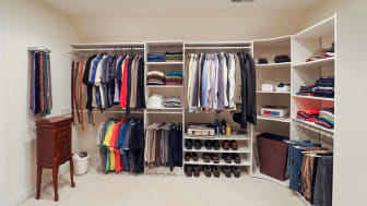 A new walk-in closet