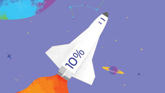 shuttle blasting off with 10 percent on side