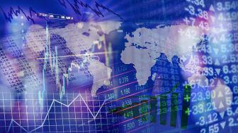 global financial markets concept