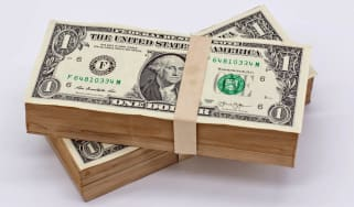Dollar money on white background