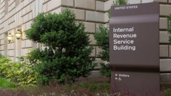 picture of sign outside IRS headquarters