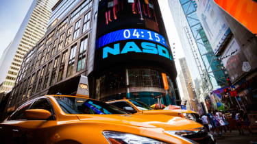 Nasdaq sign in New York City