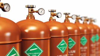 photo of bottles of industrial gasses