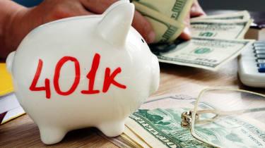 401k on a piggy bank. Savings for retirement.