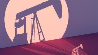 photo illustration of oil rig