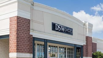 Entrance to large DSW Shoe store in Gainesville, Virginia, USA