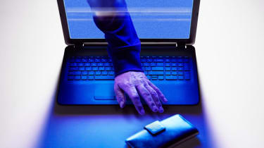 photo illustration of identity theft