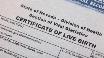 A Nevada birth certificate