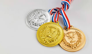gold,silver and bronze medal