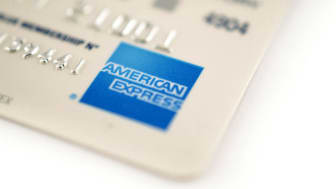 Haarlem, the Netherlands - December 23, 2011: American Express credit card. Amex credit card belongs to the financial services company American Express Company located in New York. Amex credi