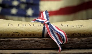 Copy of the United States Declaration Of Independence - Stock Photo