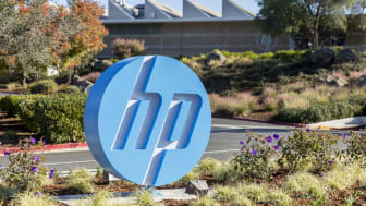 Palo Alto, United States - November 11, 2015: Headquarters of Hewlett-Packard and Hewlett Packard Enterprise, located at 1501 Page Mill Rd. The company recently decided to split into two sepa