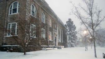 Winter day on University of Rhode Island campus