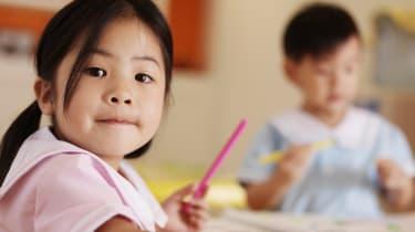 Girl at Preschool