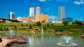 Downtown Tulsa off the water