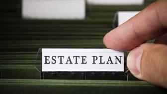 File folders labeled Estate Plan