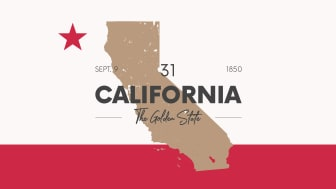 picture of California with state nickname