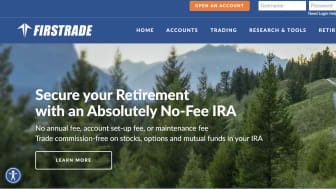Screenshot of Firstrade home page