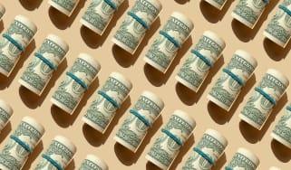 Rolls of $1 bills