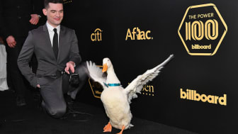 NEW YORK, NY - JANUARY 25: The Aflac Duck attends the 2018 Billboard Power 100 celebration at Nobu 57 on January 25, 2018 in New York City.(Photo by Dia Dipasupil/Getty Images for NARAS)