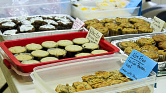 Baked goods in plastic containers for sale
