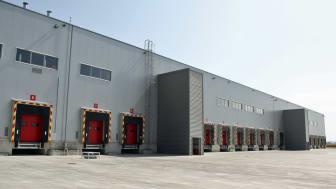 Loading dock at a warehouse