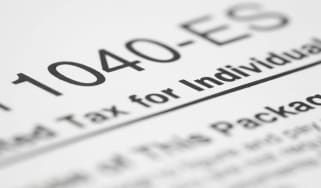 picture of part of IRS form 1040-ES