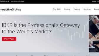 Screenshot of Interactive Brokers home page
