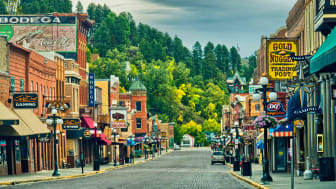The 19th century historic downtown of Deadwood, South Dakota
