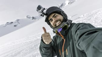 Skier, Snowboarder Taking a Selfie at the Mountain