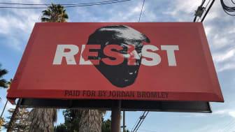 Photo of political billboard advertisement