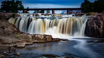 Waterfalls in Sioux Falls, S.D.