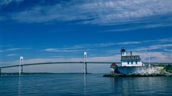 Rose Island lighthouse in Rhode Island