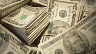 A pile of U.S. cash