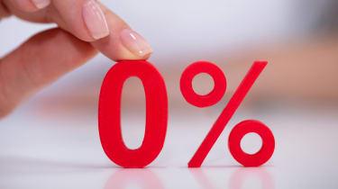 A zero percent sign.