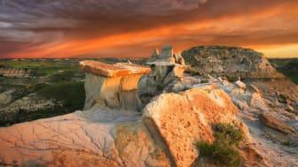 A national park in North Dakota