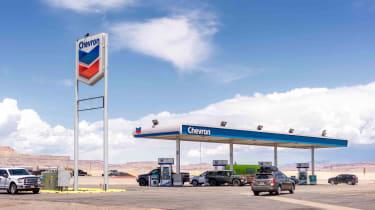 A Chevron station in rural Utah