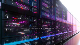 A series of large commercial servers