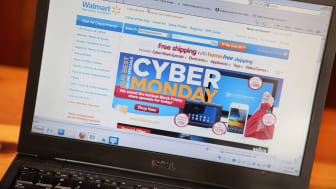 CHICAGO, IL - NOVEMBER 26: In this photo illustration, Walmart advertises Cyber Monday sales on the company's website on November 26, 2012 in Chicago, Illinois. Americans are expected to spen