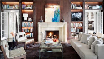 A personal library in a private residence