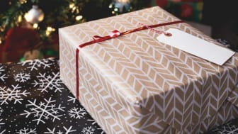 A gift-wrapped package