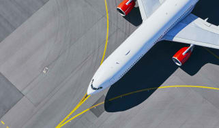 photo of airliner on taxiway