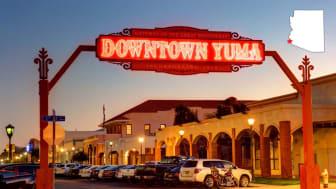 Shot of downtown Yuma, Ariz.