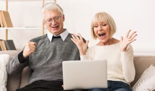 picture of excited retirees