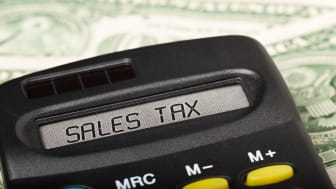 "picture of calculator with ""sales tax"" on the screen"