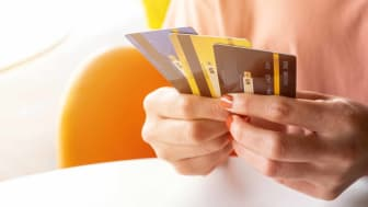 photo illustration of different credit cards