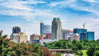 A cityscape of Raleigh, N.C.