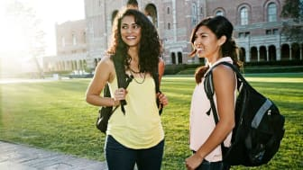 picture of two girls at college